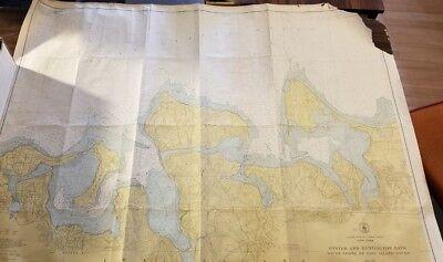 ORIGINAL 1951 OYSTER BAY - LONG ISLAND NEW YORK HISTORICAL MAP 34.5 × 43