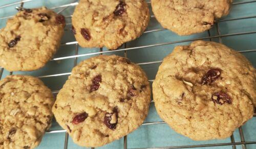 Gluten Free Cranberry Oatmeal Cookies - One Dozen - Homemade