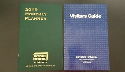 Berkshire Hathaway 2019 Monthly Planner   2018 Visitors Guide Info Booklet Brk