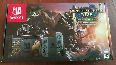 NEW Nintendo Switch Monster Hunter Rise Deluxe Edition w/ Game OVERNIGHT SHIP