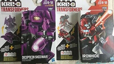 Kre-o Transformers IronHide And Decepticon Shockwave Kreon Battle Changers. New