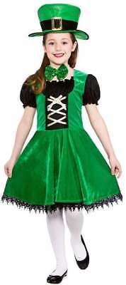 GIRLS GREEN DELUXE LUCKY LEPRECHAUN FANCY DRESS COSTUME - Girls Leprechaun Costume