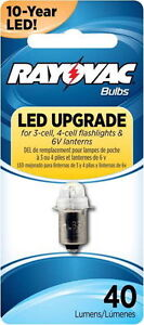 Rayovac 4V6VLED-1TA * LED Bulb for 3-Cell, 4-Cell Flashlights & 6-Volt Lanterns