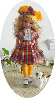 "OUT TO LUNCH PATTERN 4 EFFNER LITTLE DARLING 13"" TAM, VEST, SKIRT,SOCKS&BLOUSE"