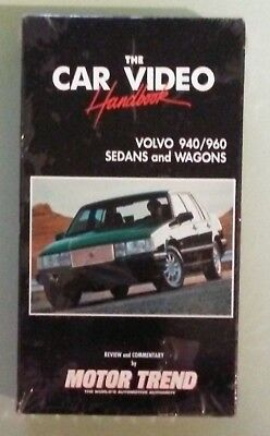 Motor Trend   Car Video Handbook  Volvo 940 960 Sedans And Wagons  Vhs Videotape