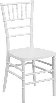 White Resin Chiavari Chair - Commercial Quality Stackable Wedding Chair