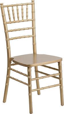 10 Pack Gold Wood Chiavari Chair With Soft Seat Cushion Wedding Chair