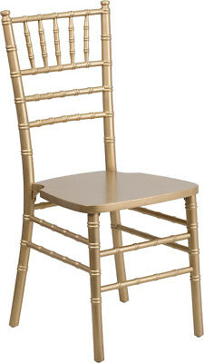 Gold Wood Chiavari Chair - Commercial Quality Stackable Wood Chiavari Chair