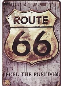 2 Signs Indian Motor Cycles + Route 66 $20.00 each. Kitchener / Waterloo Kitchener Area image 2