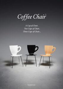 Classic, Designer,  Coffee Cup Bar Stool/Island Chairs!
