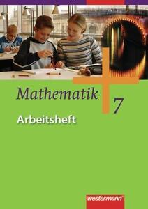 Mathematik - Allgemeine Ausgabe 2006 für die Sekundarstufe I: Arbeitsheft 7