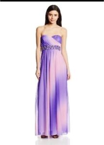 Strapless ombre lilac floor length dress (prom/grad/parties)
