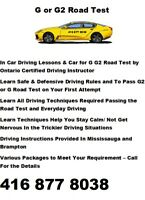 G G2 ROAD TEST CAR DRIVING SCHOOL CERTIFIED  INSTRUCTOR LESSON