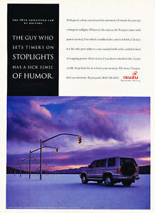 1994-Isuzu-Trooper-stoplights-Classic-Vintage-Advertisement-Ad-A97