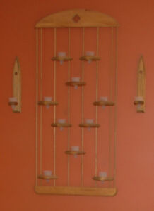 Wall display candle sconce