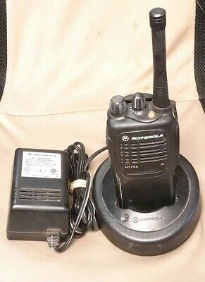 Motorola Ht750 Aah25rc9aa2an Uhf 4watt 4ch Radio Wcharger Ant Nos Battery