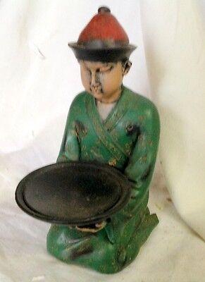 Chinesischer kniende Figur Mann Geschenk Vintage Ästhetik Polistein