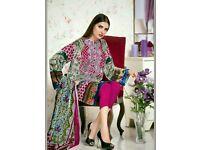 Gul Ahmed three piece velvet shirt original unstitched