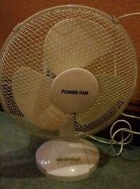 12 inch oscillating desk / table top fan