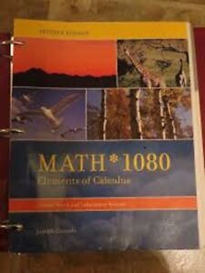 Math 1080 elements of calculus, 7th Edition