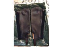 Dublin Leather Half Chaps.