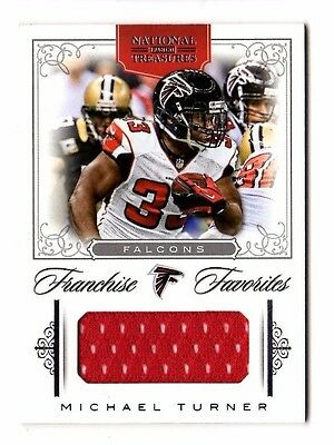 MICHAEL TURNER NFL 2012 NATIONAL TREASURES FRANCHISE FAVORITES MATERIAL (FALCONS Michael Turner Nfl