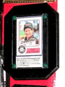 Signed 1988 Dale Earnhardt Maxx Collector Card Copy on Plaque
