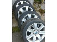 BMW 3 series alloy wheels with tyres