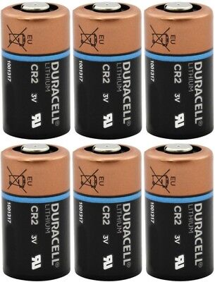 6 Duracell CR2 3v Lithium Photo Batteries DL-CR2