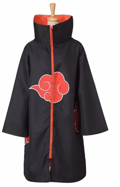 Unisex Anime Cosplay Costume us med size Naruto Cloak Uchiha Itachi Akatsuki