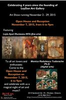 LEYDAN Art Gallery - Open House on November 7, 2015, from 6 to 9