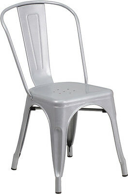 Silver Metal Chair Restaurant Indoor Or Outdoor Chair