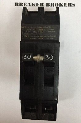 Zinsco Gte Sylvania Type Q Qcp 2 Pole 30 Amp 240v Circuit Breaker - Ships Today