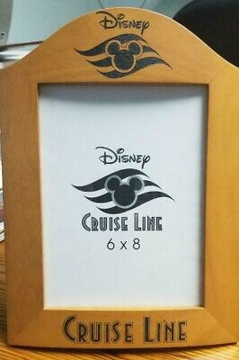 Vintage Disney Cruise Line, Wooden Picture Frame for a 6 X 8 Photo, DCL Logos