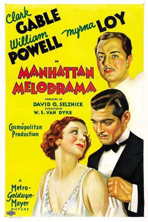MANHATTAN MELODRAMA Movie POSTER 27x40 C Clark Gable William Powell Myrna Loy