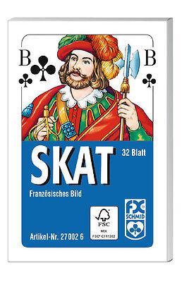 32 Blatt Ravensburger Spielkarten Skat Französisches Bild 27002
