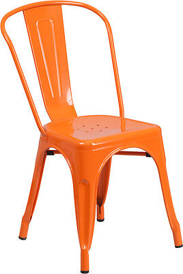 Orange Metal Restaurant Indoor Or Outdoor Chair