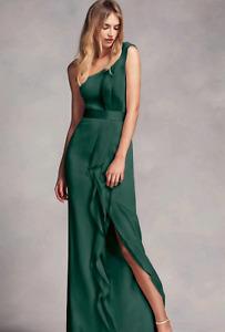 Vera wang dress forest green size 0
