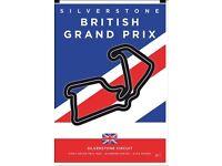2 x Full weekend British gran prix F1 tickets