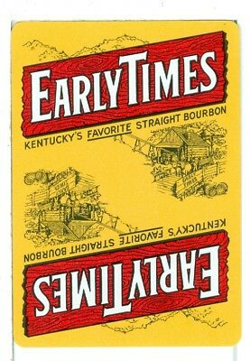 "Single Wide Playing Card, ""Early Times"" Kentucky Straight Bourbon for sale  Marietta"