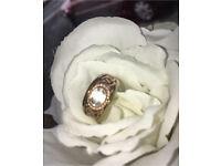 9ct Clogau gold Celtic white topaz wedding/designer ring