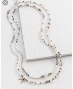 Silpada extra long peral necklace