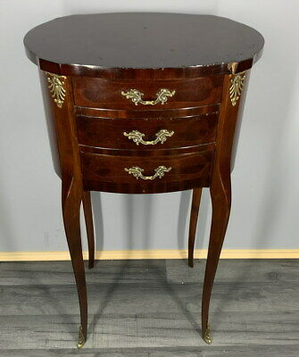 French Louis XVI  Antique Bedside Table Cupboard Cabinet Chest of drawers
