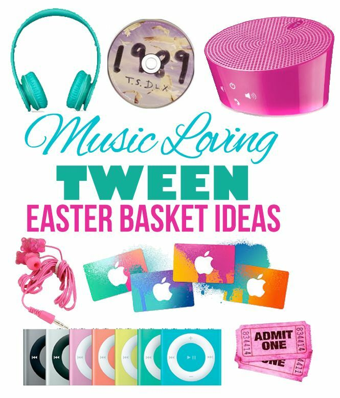Small gift ideas for tween teen girls ebay easter basket ideas for tweens that love music negle Choice Image
