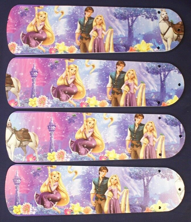"""New DISNEY TANGLED 42"""" Ceiling Fan BLADES ONLY"""