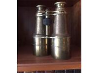 Antique Brass Binoculars (military use WWI period)