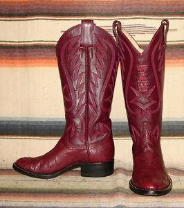 womens handmade jackson custom boots maroon ostrich cowboy