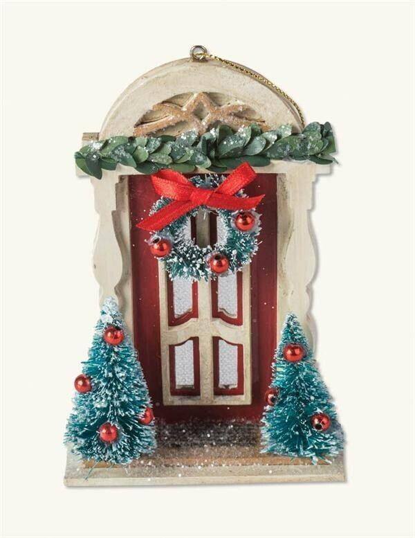 Victorian Trading Co Enchanted Portal Front Door Christmas Ornament