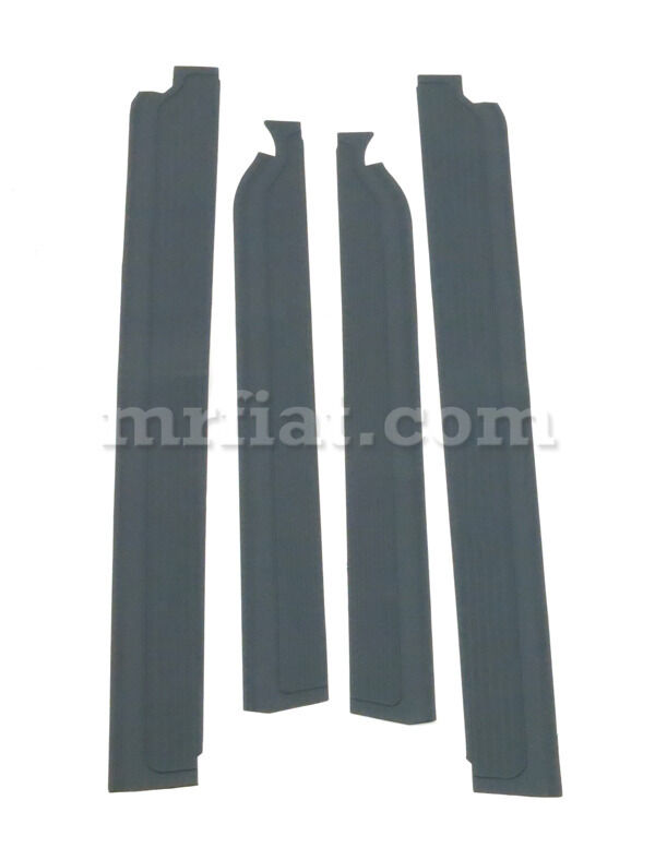 Mercedes W109 300 Sel Grey Door Sill Rubber Mat Set 4 Pcs New