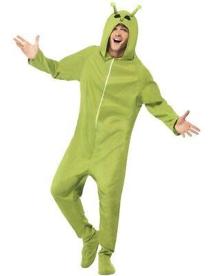 Erwachsene Alien Einteiler Maskenkostüm Alian Marsmensch grün Anzug von (Mensch Tier Kostüm)